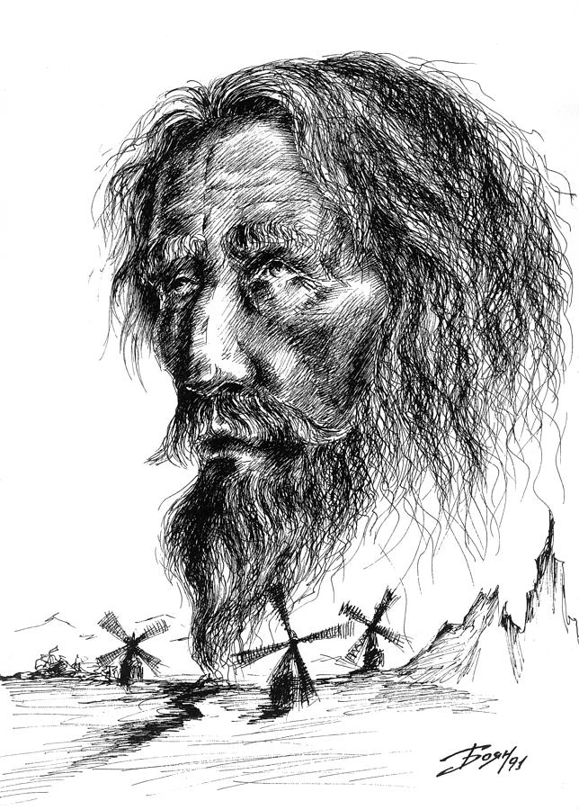 Don Quixote Drawing - Don Quixote by Boyan Donev