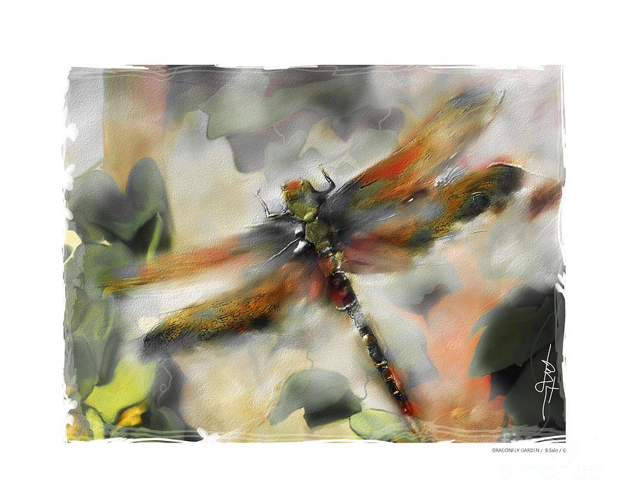 Impressionism Painting - Dragonfly Garden by Bob Salo