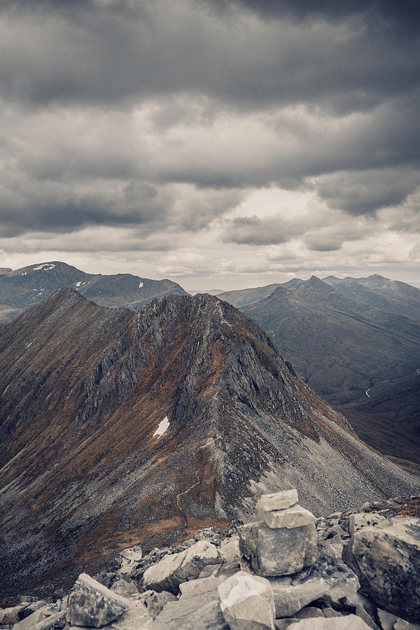 Highlands Photograph - Dramatic Mountain Scenery In The Scottish Highlands by Leander Nardin