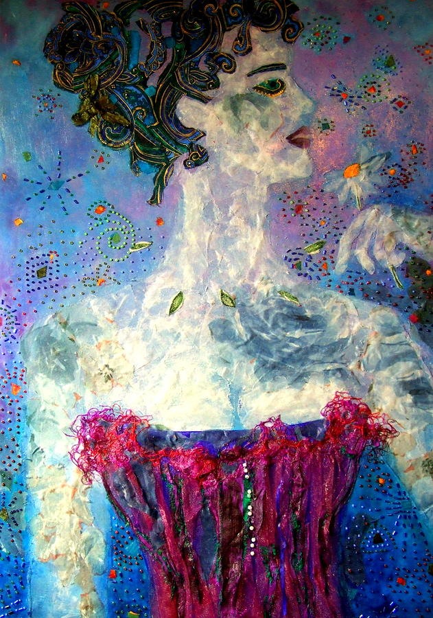 Mixed Media Collage  Mixed Media - Dreaming by Diane Fine
