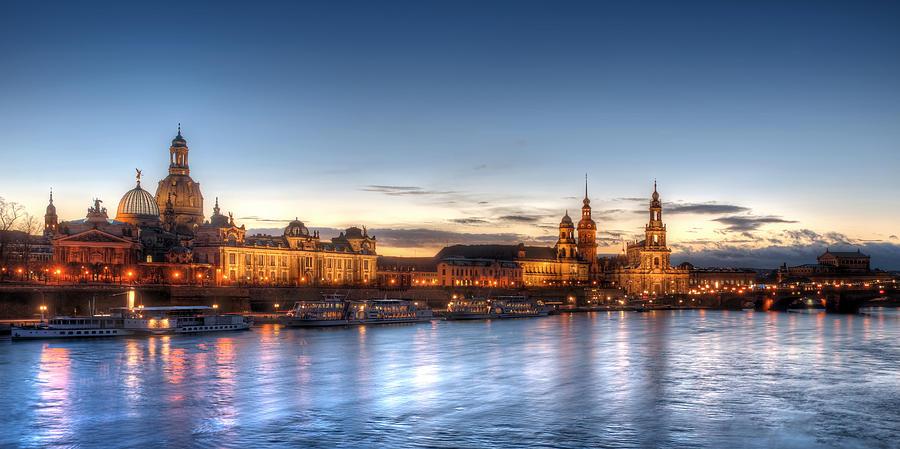 Dresden Photograph - Dresden Skyline by Steffen Gierok