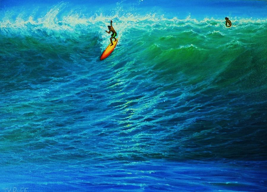 Dropping In Painting by Joseph   Ruff