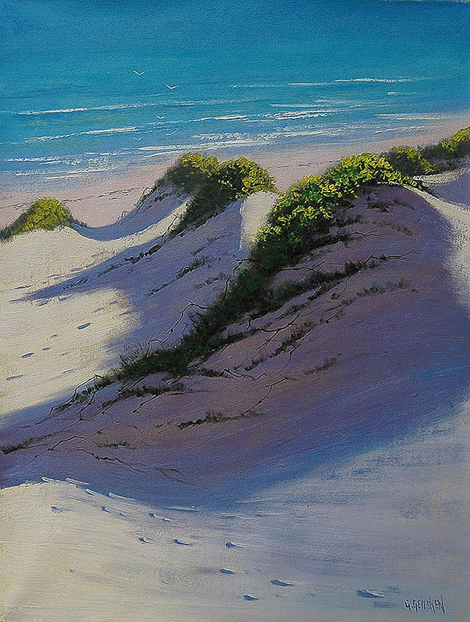 Seascape Painting - Dune Shadows by Graham Gercken