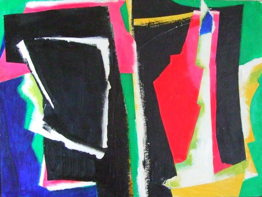 Abstract Expressionism Mixed Media - Duo by Diane Fine