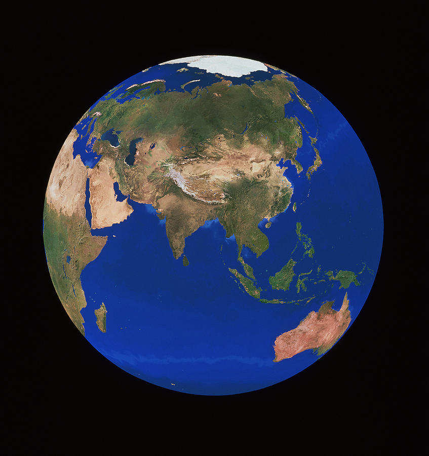 Earth Photograph - Earth by Copyright 1995, Worldsat International And J. Knighton/science Photo Library