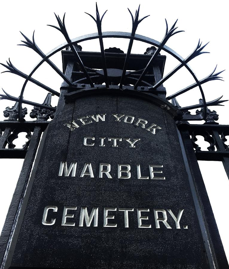 Marble Hill Cemetery Photograph - East Village Cemetery by Natasha Marco