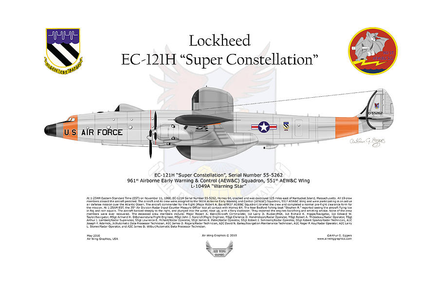 Lockheed Digital Art - Ec-121h Super Constellation by Arthur Eggers