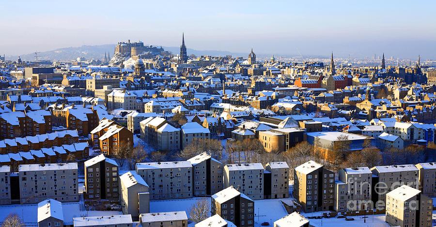 Edinburgh Photograph - Edinburgh Winter Cityscape by Craig B