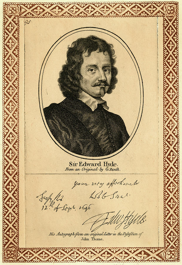 Earl Drawing - Edward Hyde, 1st Earl Of  Clarendon by Mary Evans Picture Library
