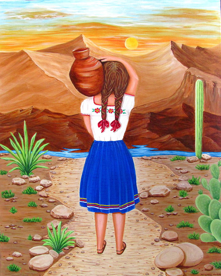 Cantaro Painting - El Cantaro by Evangelina Portillo