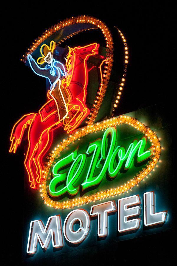 Neon Photograph - El Von--Albuquerque by Matthew Bamberg