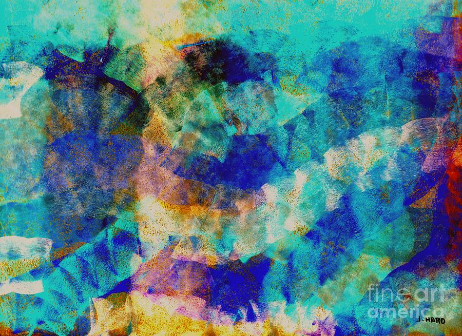 Abstract Digital Art - Electric Blue by Julio Haro