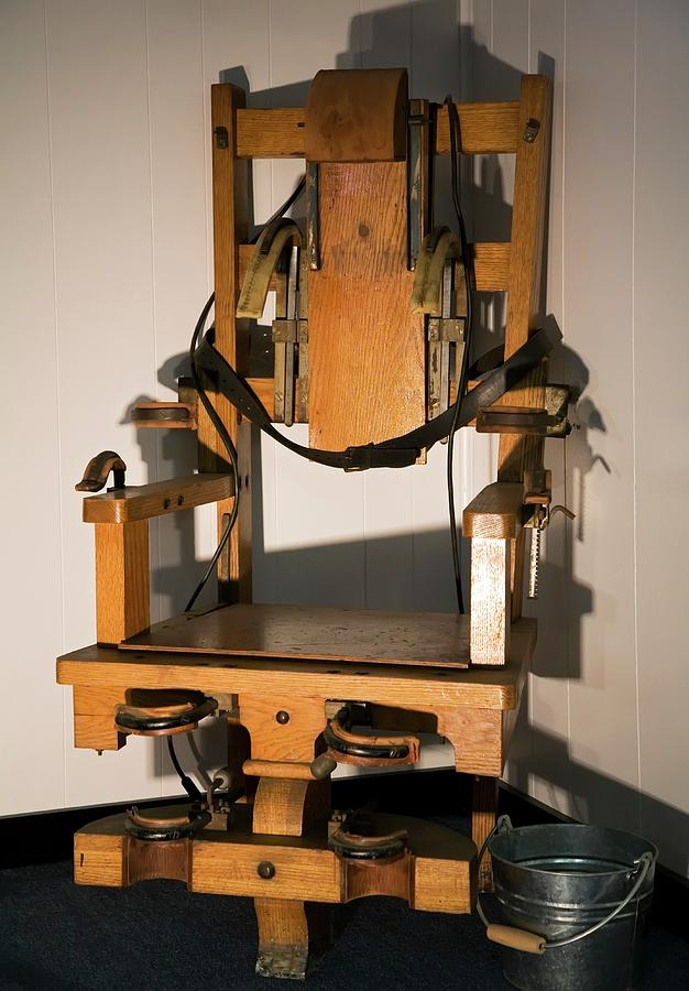 Equipment Photograph - Electric Chair by Jim West