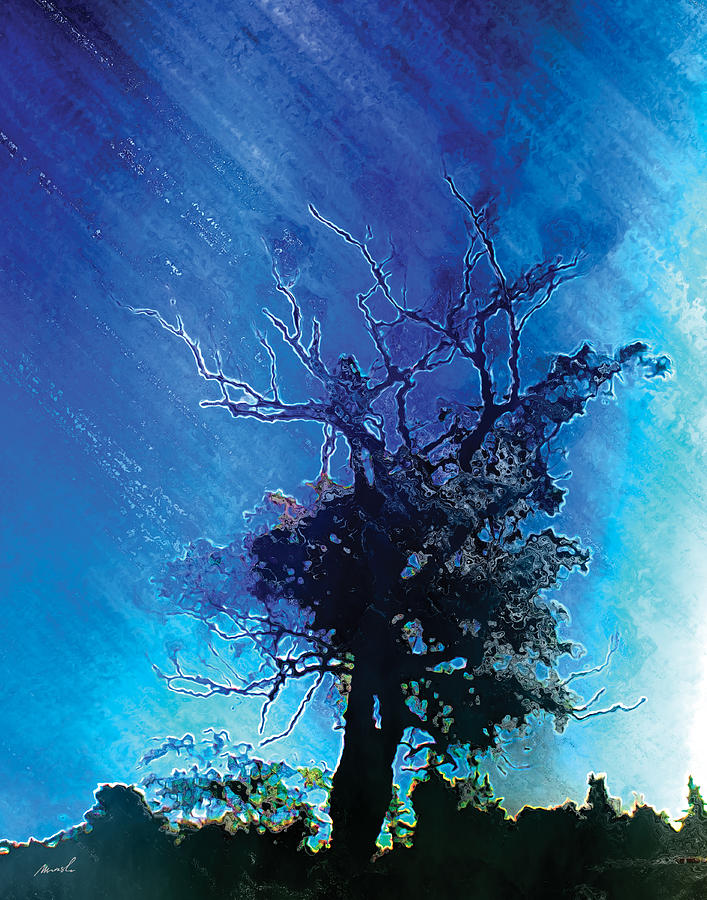 Electric Photograph - Electric Tree by The Art of Marsha Charlebois