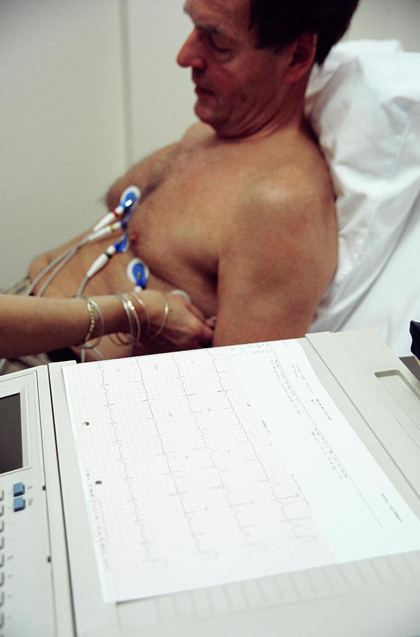 Human Photograph - Electrocardiography by Antonia Reeve/science Photo Library
