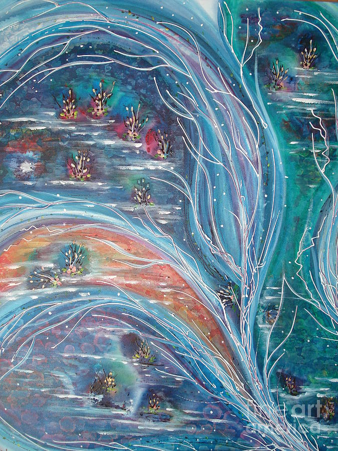 Elements Of Nature Painting by Krystyna Spink