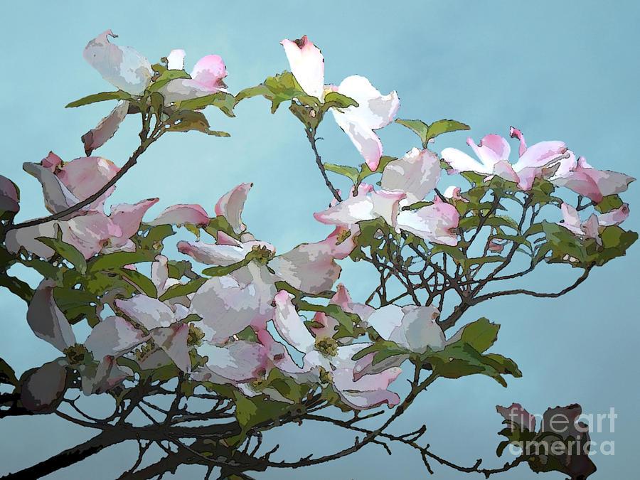 Floral Digital Art - Elena by Machiko Studio