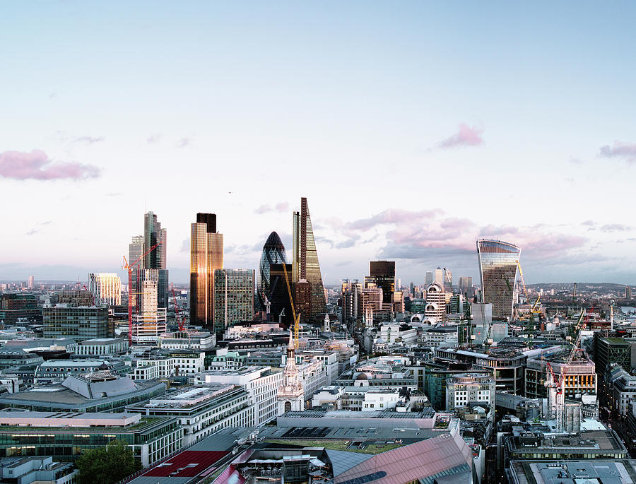 Elevated View Over London City Skyline Photograph by Gary Yeowell