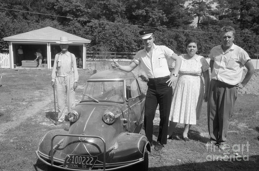 Elvis And His Messerschmitt With Vernon And Gladys Presley