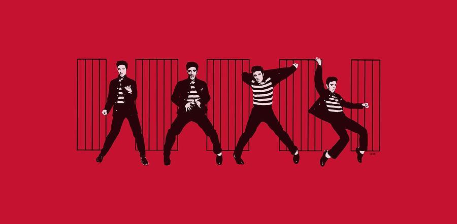 Elvis Digital Art - Elvis - Jailhouse Rock by Brand A
