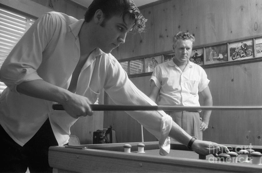 Elvis Presley Photograph - Elvis Presley With His Father Vernon 1956 by The Harrington Collection