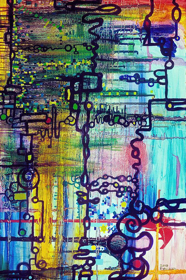 Order Painting - Emergent Order by Regina Valluzzi