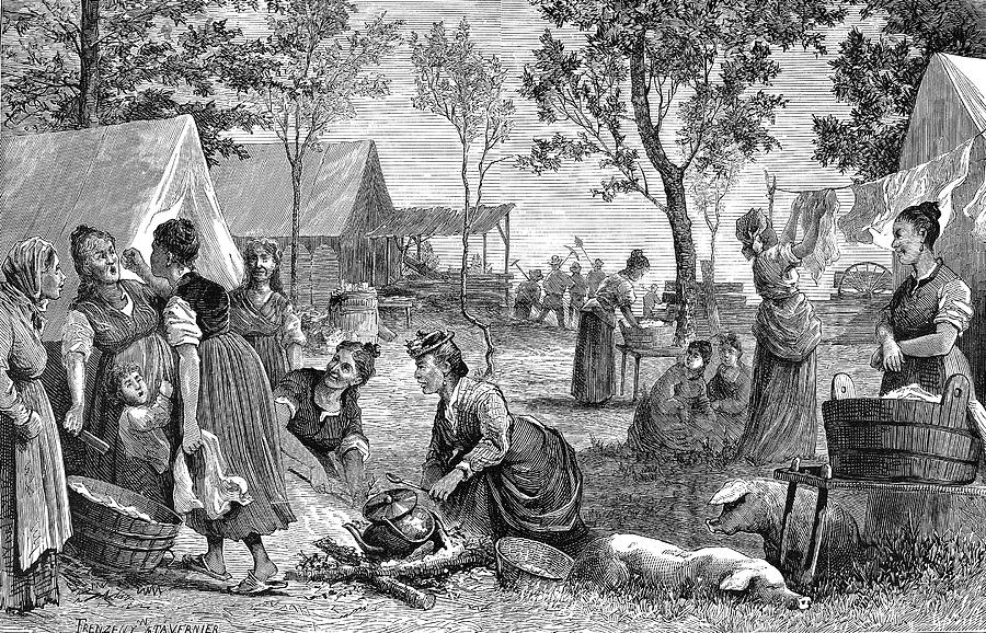 1874 Painting - Emigrants Arkansas, 1874 by Granger