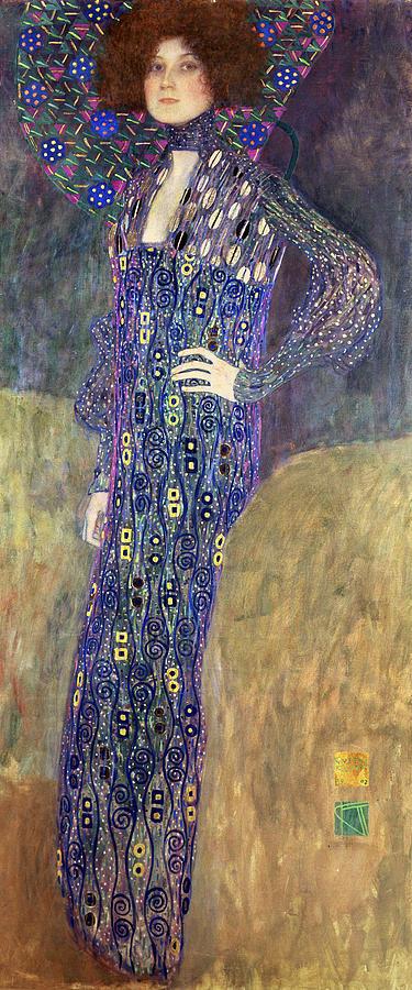Gustav Klimt Painting - Emilie Floege by Celestial Images