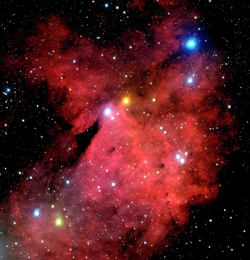 Nebula Photograph - Emission Nebulae by Canada-france-hawaii Telescope/jean- Charles Cuillandre/science Photo Library