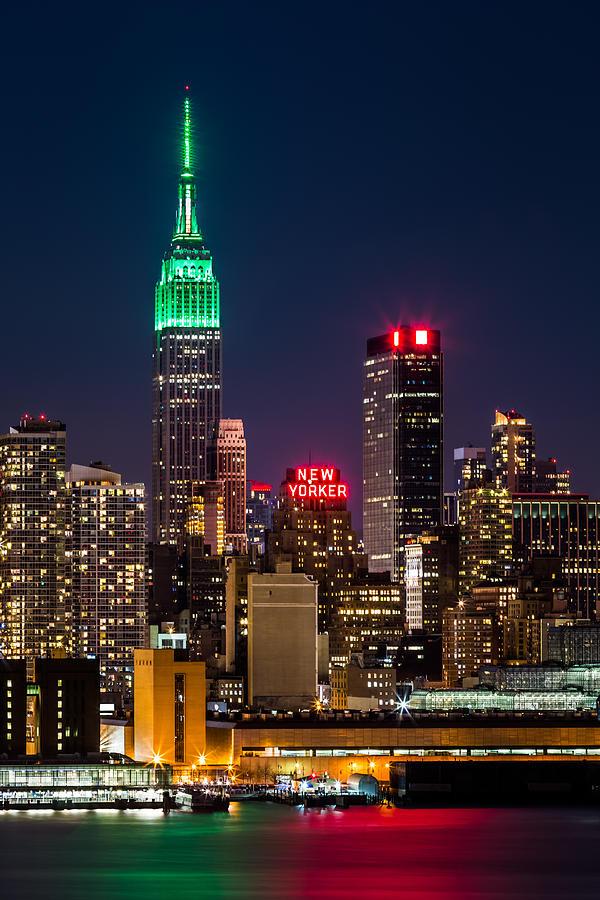 Ireland Photograph - Empire State Building On Saint Patricks Day 1 by Mihai Andritoiu