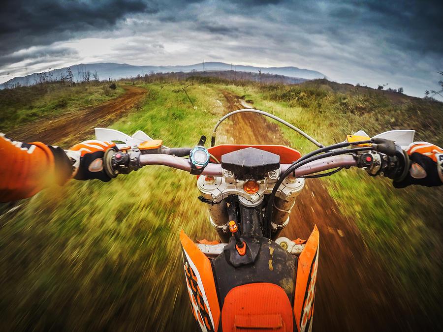 Enduro Motocross Motorbike Racing Offroad Photograph by Piola666