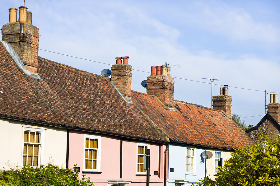 Area Photograph - English Cottages by Tom Gowanlock