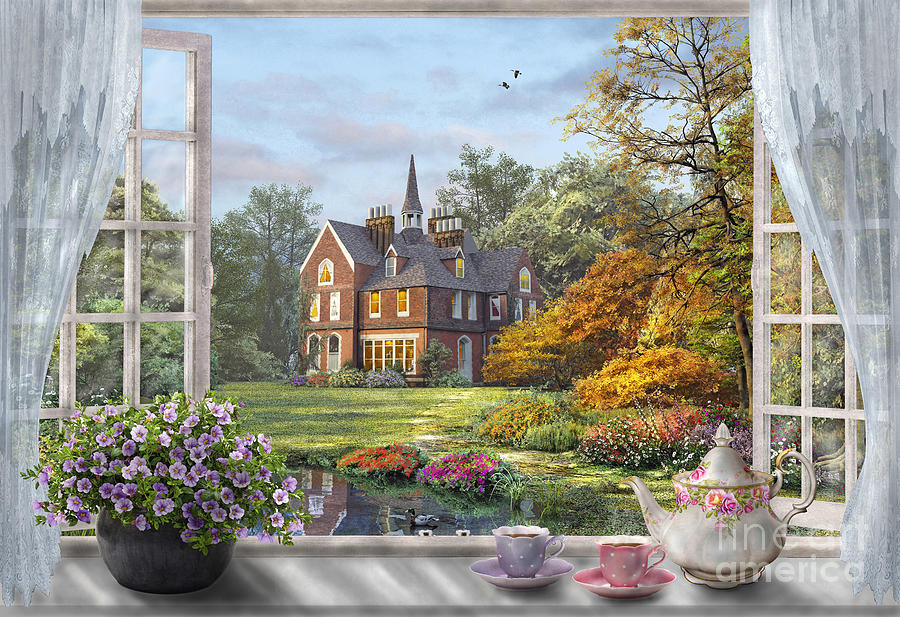 Architecture Digital Art - English Garden by MGL Meiklejohn Graphics Licensing