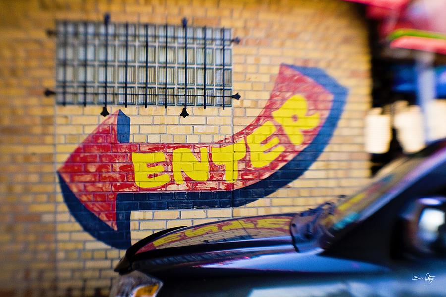 Sign Photograph - Enter by Scott Pellegrin