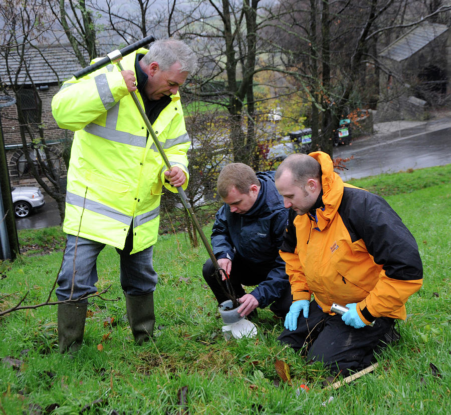 Human Photograph - Environmental Soil Monitoring by Public Health England