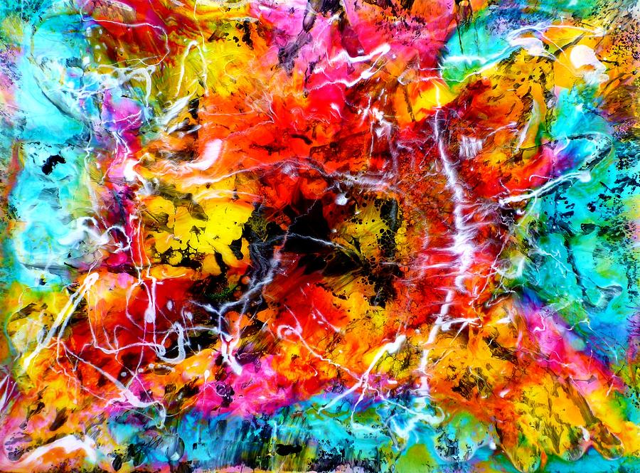 Epoxy Painting Art : Epoxy resin ink painting by tara baden
