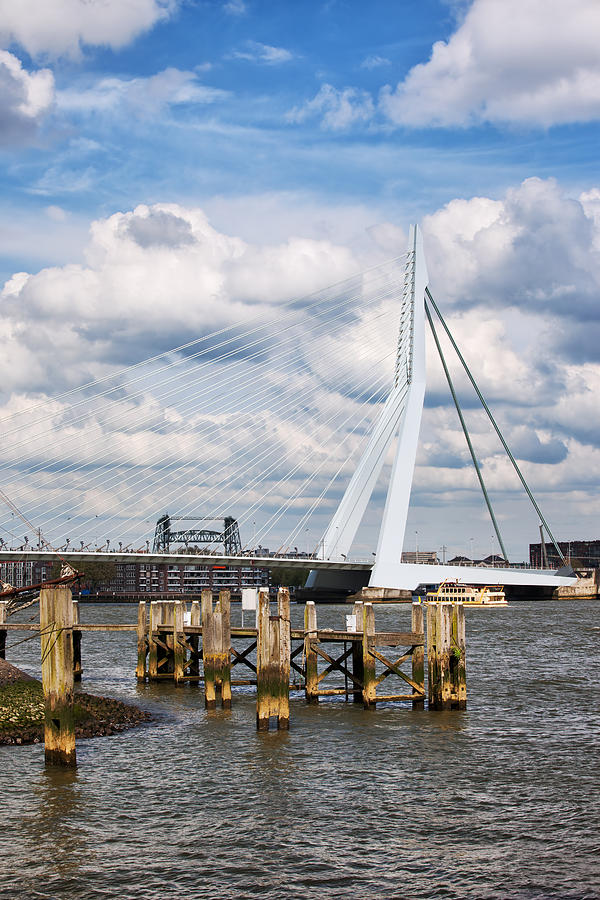 Rotterdam Photograph - Erasmus Bridge In Rotterdam by Artur Bogacki