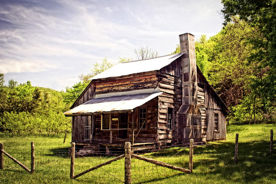 Log Cabin Photograph - Erbie Homestead by Marty Koch