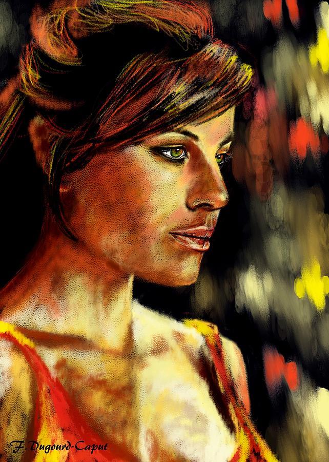 Portrait Painting - Erica by Francoise Dugourd-Caput