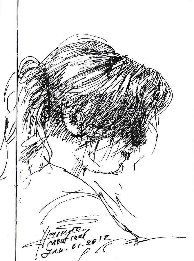 Girl Drawing - Eriola by Ylli Haruni