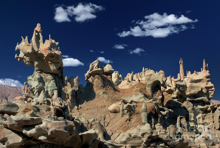 Eroded Sandstone Formations Fantasy Canyon Utah Photograph