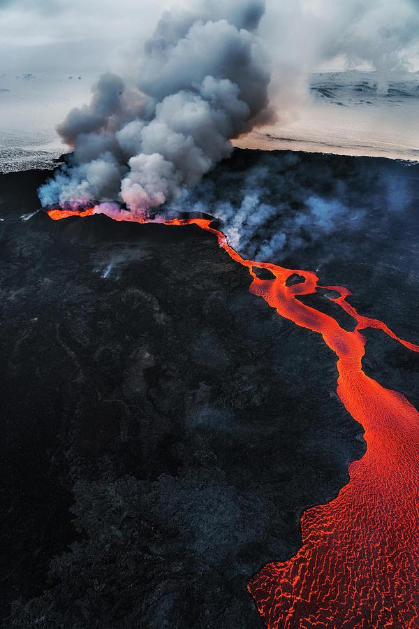 Eruption, Holuhraun, Bardarbunga Photograph by Arctic-images