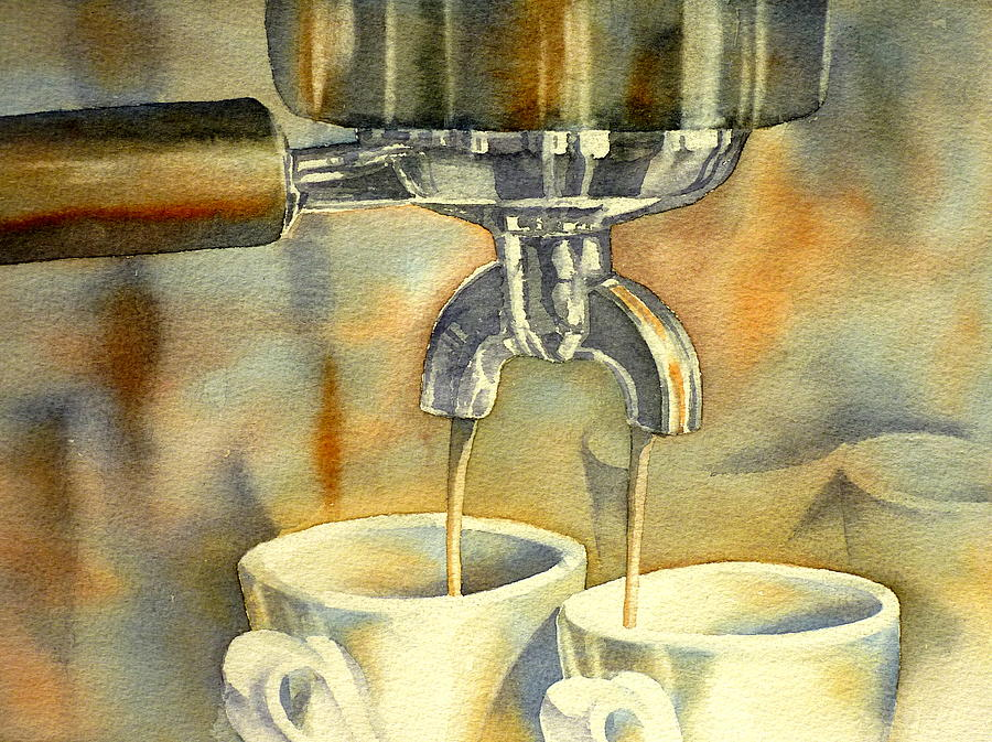 Espresso Machine Painting - Espresso by Thomas Habermann
