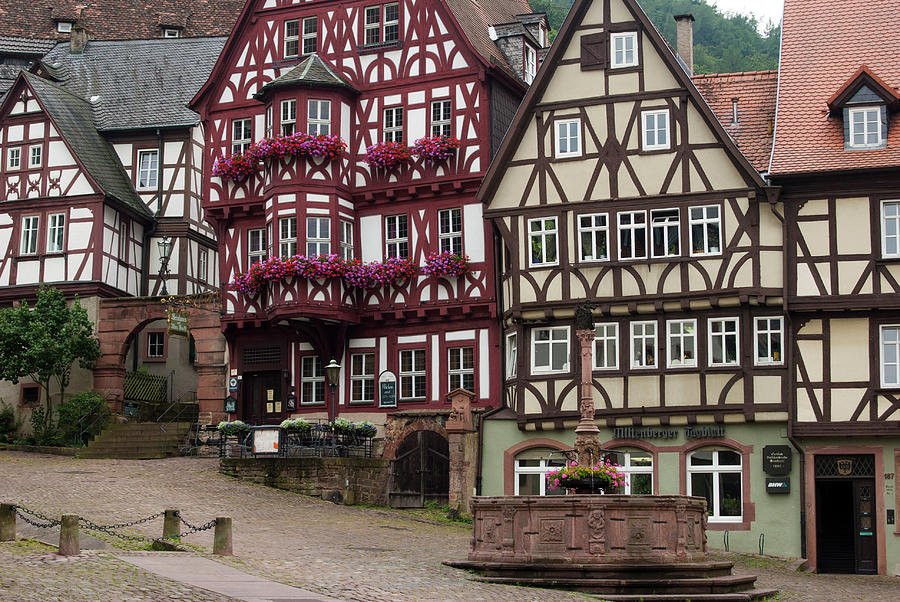 Architecture Photograph - Europe, Germany, Miltenberg by Jim Engelbrecht