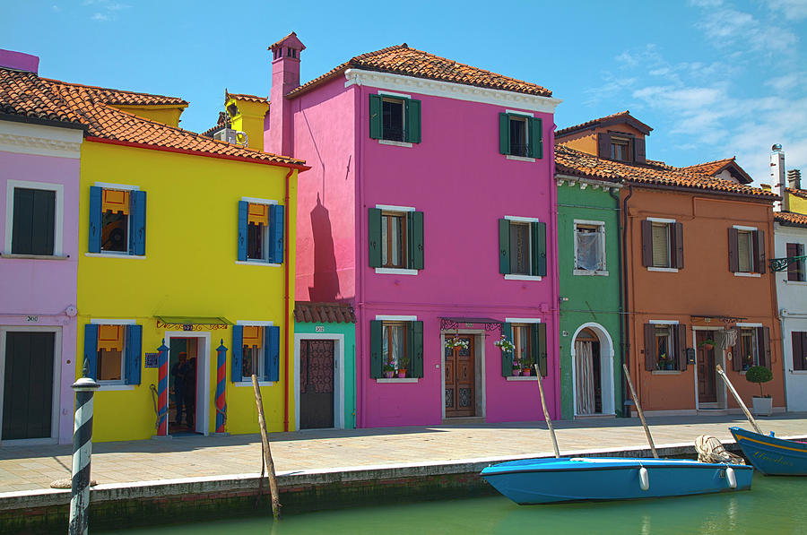 Architecture Photograph - Europe Italy Burano Bright Colored by Terry Eggers
