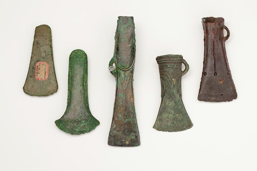 Bronze Photograph - European Axes by Paul D Stewart