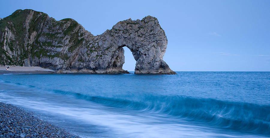Durdle Photograph - Evening At Durdle Door by Ian Middleton