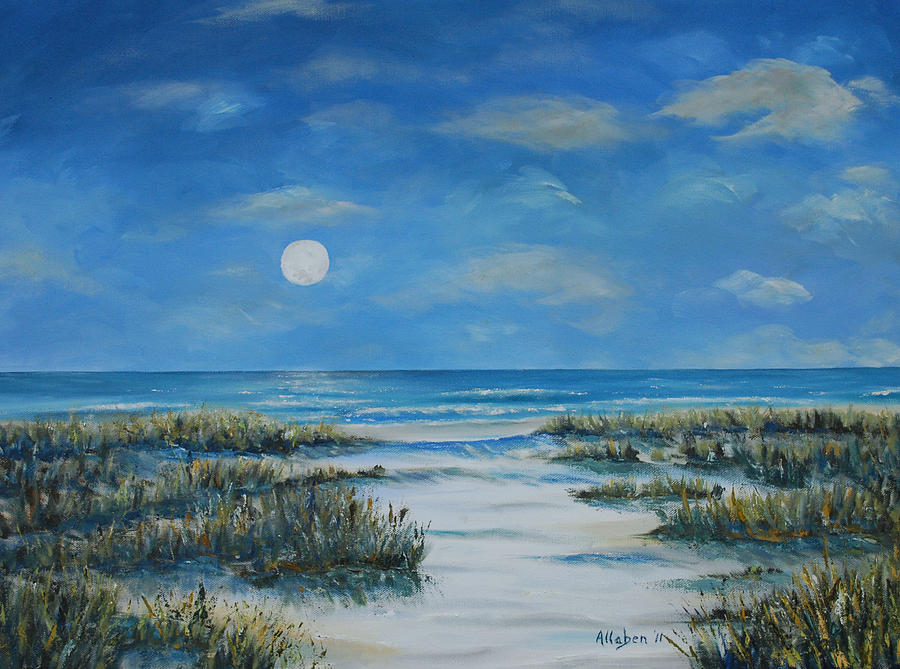 Seascape Painting - Evening Calm by Stanton Allaben