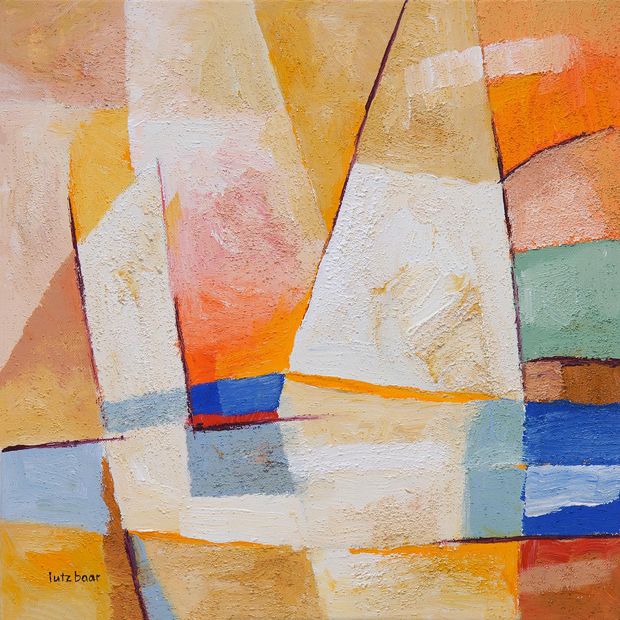 Sails Painting - Evening Sails by Lutz Baar