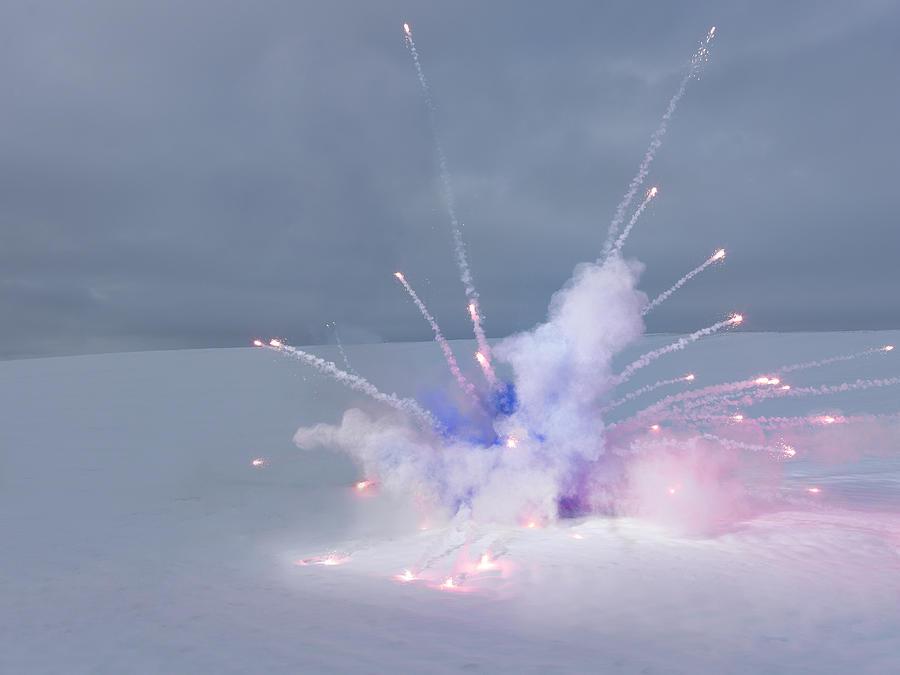 Explosion In Winter Landscape Photograph by Henrik Sorensen